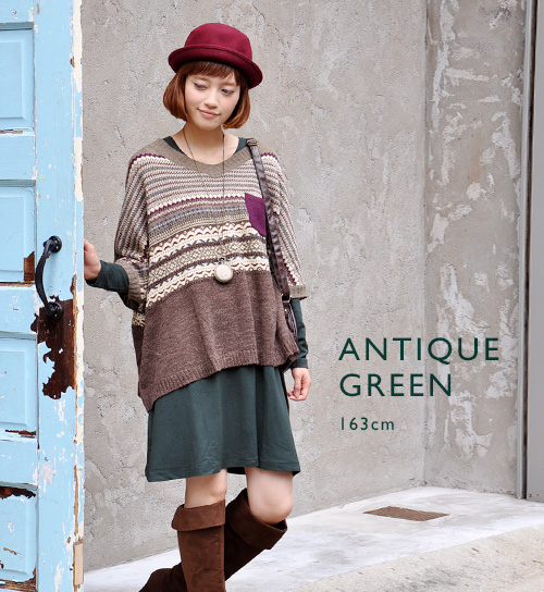 Dress lightly, sweet, and warm! Main use is possible in one HEAT カットソーワンピース / crew neck / petticoats / tunic / hairball prevention / long sleeve / cold / アンチピ ring / spring dress ◆ Zootie ( ズーティー ): really heat A line one piece dress