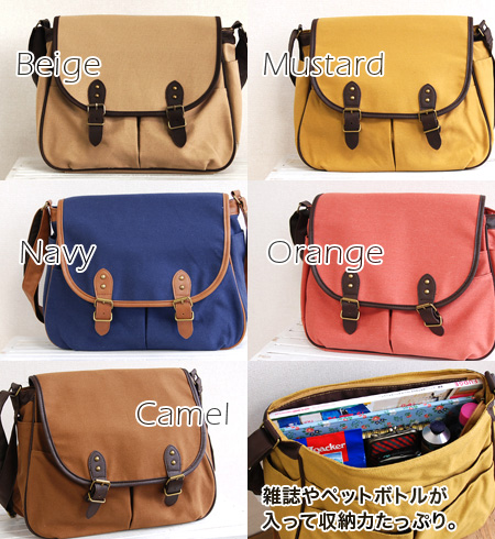 I am distinguished for even convenience with nine ◎ pockets in total in the canvas material which is easy to treat a popular editors bag! It is / shawl ◆ belt flap canvas square shoulder bag at 100% of 100% of / Satchell bag / plain fabric / cotton / cot