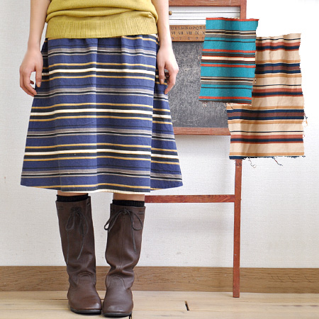 Multiple AVI to multi stripes! Gentle warmth and used wind tunnel material skirt • West sharing Gomes music Chin specifications!-/ knee-length and knee length / lenght ◆ mateecottennelmultibaldermidi skirt