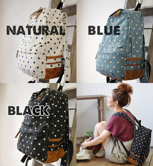 Waterdrop pattern Ver. of the anello アネロリュック our store popularity NO.1 rucksack! Day pack / canvas bag / bag / bag ◆ anello (アネロ) which pop, is girly of exquisiteness size which the child of two suede line ◎ women carries it on their back to cloth for ri