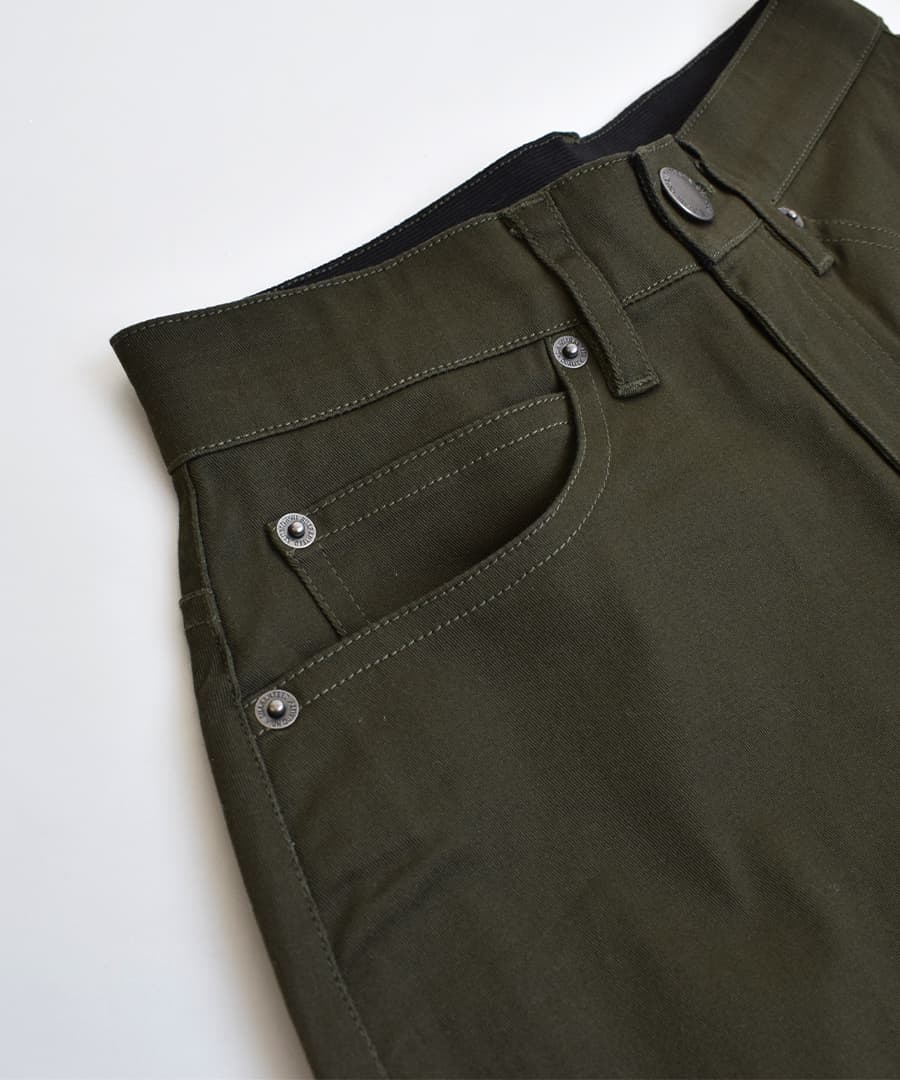 Size stretch cotton ◆ zootie (zoo tea) which tapered pants M/L/LL きれいめ chino pants Lady's bottom stack underwear sarouel pants long leggings underwear has a big: ジェネラルチノタックテーパードパンツ