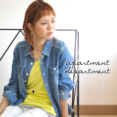 Layering-style of adult playing an inner. In the material which assumed red gum raw materials by スルン and the feel that slipped realization / plain fabric / Shin pull / Lady's / アパデパ ◆ apartment department (アパートメントデパートメント): リヨセルコットンカラータンクトップ