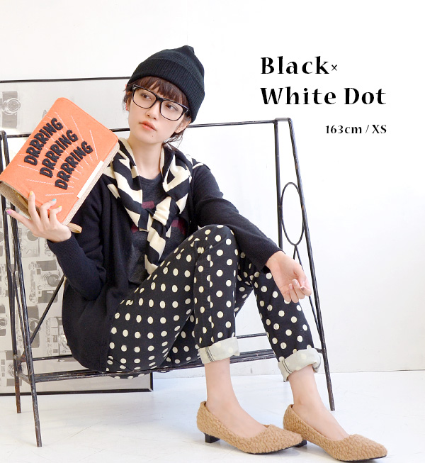 """I wanted ' into reality! Cool large polka-dot pattern against the beautiful silhouette skinny pants! ベティースミス made in Japan hipster / closure / women's / レギパン ◆ Betty Smith Betty ( Smith ): みずたま leggings pants"