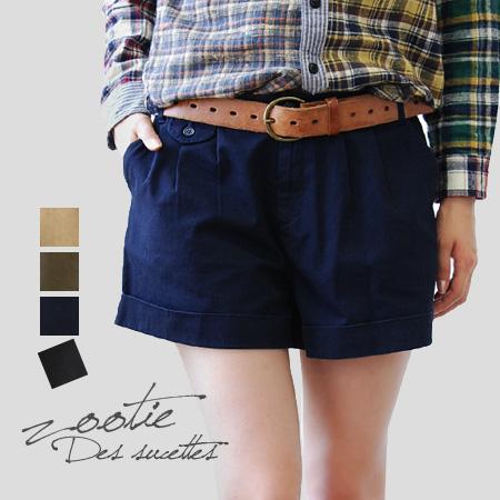 I'm sure would want it every day like short-length pants. Culotte panties breeze plenty around the hem was taken also leg sukkiri ♪ / women / bottoms / plain ◆ Zootie ( ズーティー ): アッシュツイルタックロールアップ shorts