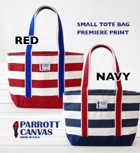 Tri color プレミアプリントスモールトート bag. Both men and women: Unisex canvas material / shawl / unisex / women's / men's /IMEX11-06-12 ◆ PARROTT CANVAS (Parrot tarp) SMALL TOTE BAG PREMIERE PRINT
