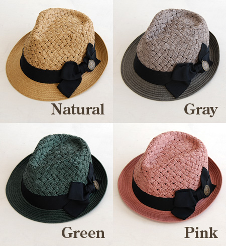 Caps & hats Crown part differs in the brim part appearance. Coin swaying in the Ribbon part has one point women's /Hat / straw hat style straw hat style ◆ cheer ( cheer ): コインチャームリボンアンダリ Hat