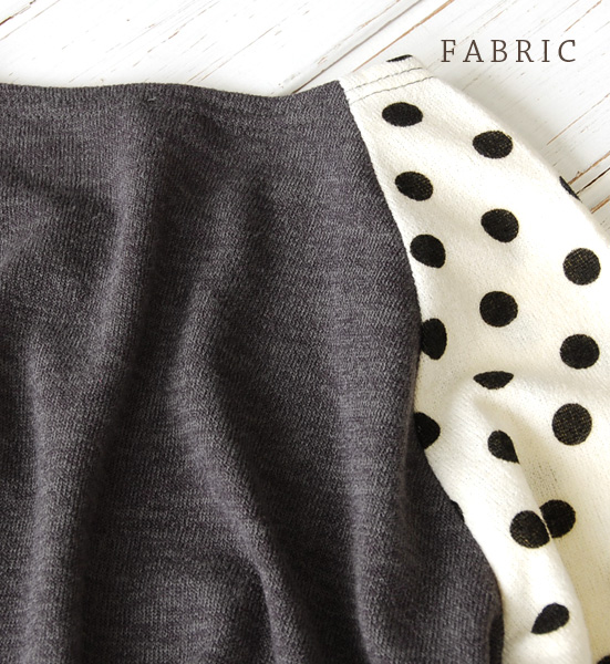 The long tunic of the simple silhouette. Waterdrop pattern dot pattern mini-length short length shoulder adult fashion tunic dress ◆ zootie (zoo tea): Polka dot shoulder knit so dress