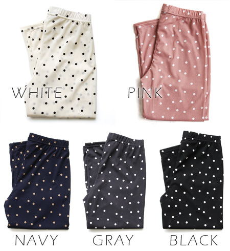 Waterdrop pattern leggings. The thin, smooth stylish fashion mail order Rakuten ◆ fixed phrase petit dot leggings that wears it, and has a cute feeling, pantyhose sense ◎ stockings socks dot pattern Lady's in the spring and summer