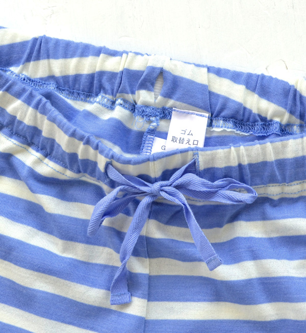 There is no corner-cutting in the relaxation thyme, too! The stylish house coat SET which I changed with pastel-like horizontal stripes! Camisole & frill underwear roomware set with setup pajamas Lady's no sleeve bra top ◆ horizontal stripe cup