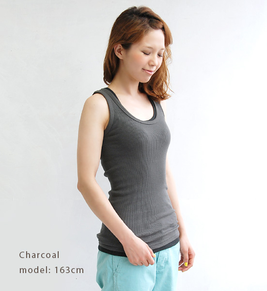 Popular originaltexascottenrib material. Standard u-tank white cotton stretches and fit while exquisite 100% 08321059 made in Japan [FABRIQUE en planete terre (fabricairnplanetaire) U necklibutyewb tank top