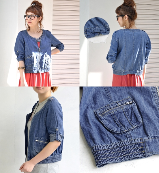 Than the masculine m/l denim jacket long light • short dress Womens jumper thin breath 7-odd sleeves sleeve G Jean jeans ◆ zootie (SETI): Abby Wright denim & pants