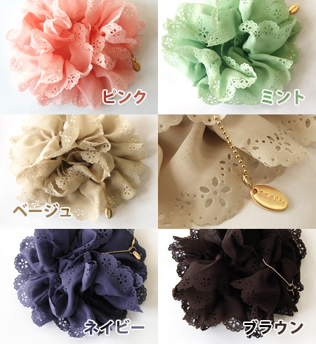 The design which is sweet even if I take you as floral design punching by a scallop shell-formed relationship. Work in the volume flutteringly softly; in a circle cutting work hair accessories /fs3gm ◆ Zootie (zoo tea) such as the frill: Scallop shell fl
