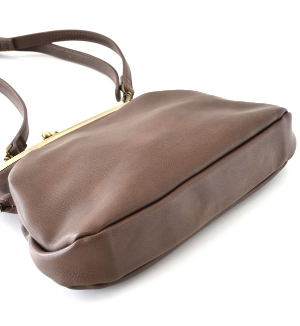Just saw your wallet?! Appeared, that popular Gamaguchi bag one size smaller key sizes! As a handbag diagonally over the shoulder nor OK small bag /BAG / bag / combination skin / ladies ◆ classic is a money pouch shoulder bag [mini]