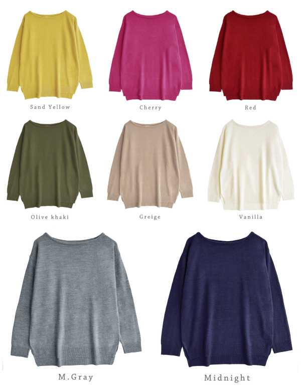 Size pink washable knit ◆ zootie (zoo tea) which M/L soft and fluffy cashmere touch sweater Lady's tops long sleeves have a big: Cashmere touch slit boat neck knit cut-and-sew