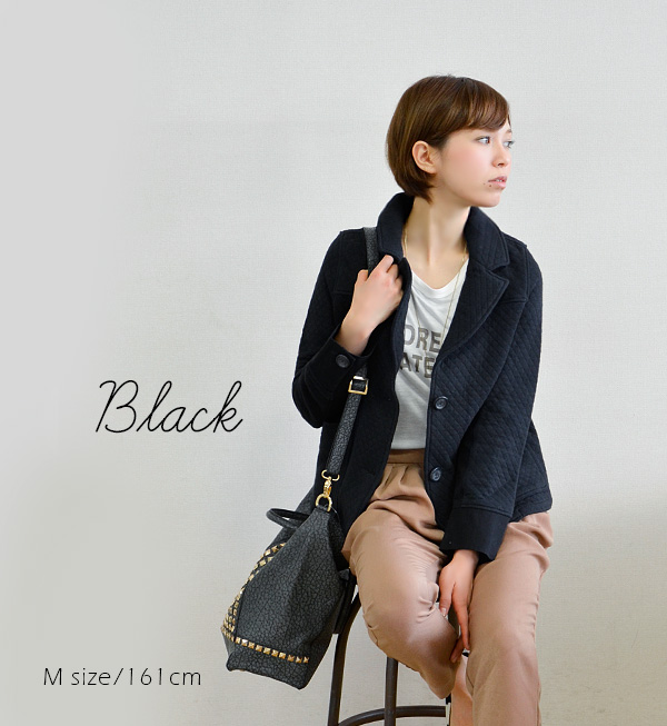 Quilting jacket light overcoat Lady's spring outer quilting coat cotton 100% short coat coat short length ◆ zootie (zoo tea): Cappuccino cotton quilting tailored jacket