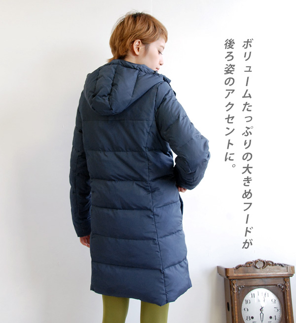 Not seem to have made. Down coat that you can wear casual. Zip down 80% real cold specifications / hooded / up ◆ Zootie ( ズーティー ) :Diary down long coat