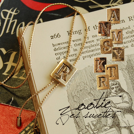 I just become special initial motifs long necklace. A delicate design in gold color shine in classy woman womanhood full marks! / Accessories / pendant / alphabet /A/N/M/S/Y / K/T/R ◆ Zootie ( ズーティー ): イニシャルループタイネックレス