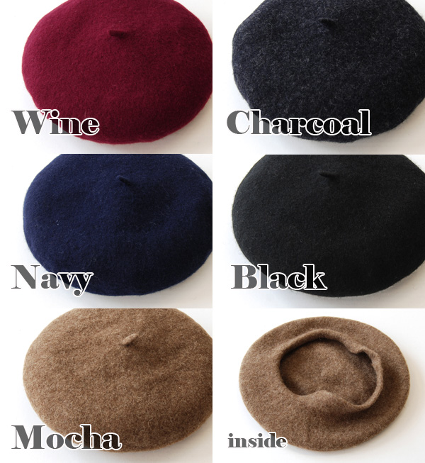 Soft brushed 100% wool made from materials, cheek was basic beret bulge of warm. Offers that fit in standard design feel free to code easy, comfortable fit and fall-winter / felt / Melton ◆ wool felt beret