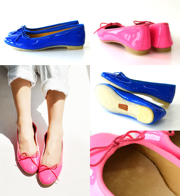 """Ballet shoes """"ライアグレース"""" where ribbon was attached to with good cowhide enamel of the color development quietly on the tip. A moderate feeling of hold and crepe sole are two points of ◎ / ぺたんこ pumps / flattie / real leather ◆☆ sale ☆ Clarks (kula"""