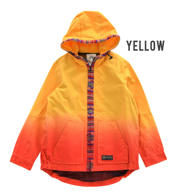 The zip up jacket that colorful hemming tape gets a lot of looks in beautiful グラデ color. Detail etc where a mesh material and wind of the back side are hard to enter…It is ◎ / haori / man soft-headed ◆ gradation by color mountain Parker in the active sce