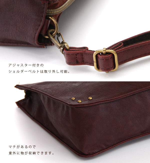 Not too sweet and attractive chides atmosphere somewhere ♪ rectangular bag decorated with Ribbon in the middle. As the angled seat Pochette course as a clutch bag ◎ / diagonal Cliff / bags / women's /BAG ◆ square Ribbon 2-WAY shoulder bag