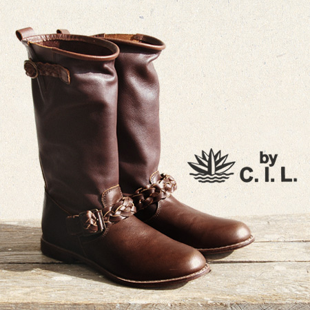 The middle boots that it was arranged colors with two kinds of leather slightly. An ankle and the mesh belt which wear it, and give glory to a tongue point ◎ / Lady's / cowhide / real leather / natural / work boots / spring boots ◆ C.I.L. (sea eye L): Me