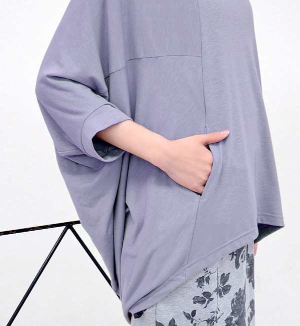 """Just wear only the fashionable' theme is! women's tops sewn shirts tunic Jersey 7 sleeve 7-inner sleeve fall • design Plus fish tale tunic"
