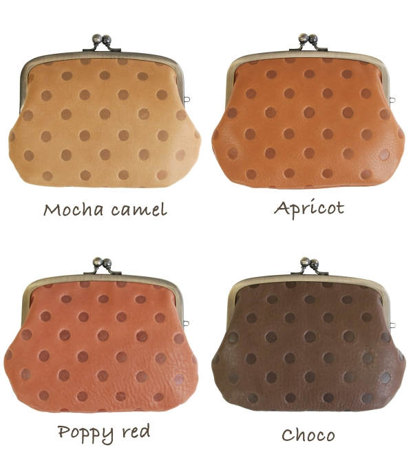 The casual pouch coin case which I made occasional model push on without looking. In a pouch mini-wallet / cowhide / rial leather accessory / Perth / card case / pass case /IC pass holder / Lady's /fs3gm ◆ kanmi. (Kanmi) of the W pouch with the coin purs