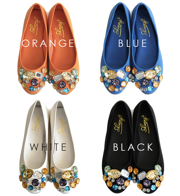 Love at first sight in the large bijoux shimmering gems like!, large rhinestone studded faux leather glitter ballet slippers. Pettanko plus accent shines underfoot pettanko pumps / women's footwear / leather ◆ ジュエルビジュー flat pumps