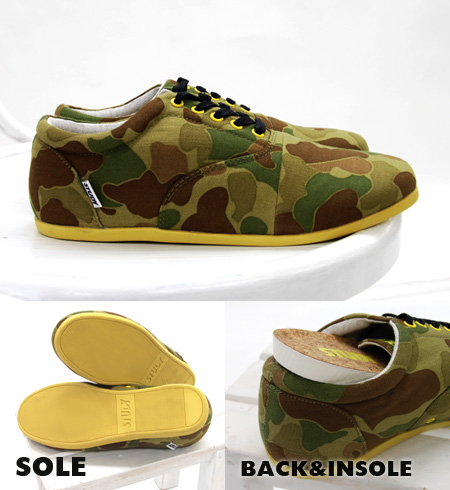 The Oxford shoes which black Shoo race shines in in a camouflage pattern with a feeling of vintage. Low-frequency cut sneakers / Lady's / camouflage pattern / military pattern / army pattern /STY SS2301/fs3gm ◆ STUDY (study) THE CAMO DROP of a simple sil