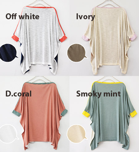 "The 2WAY item of ""pullover"" & ""haori!"" Heteromorphic half-length sleeve long cut-and-sew short sleeves five minutes sleeve Lady's pretty stylish inner dolman tops ◆ 2WAY color block slab dolman tunic of 3 coloration"