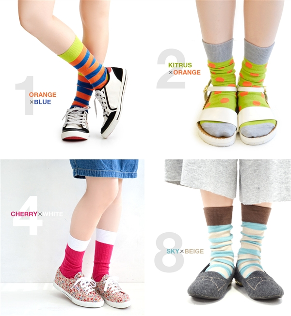 All four colors! Total 3 sets with dots, stripes and solid rib! Color design in colorful, pop you'll find releases presence. • PANTONE UNIVERSE (pantoneuniverse) color scheme socks 3 p