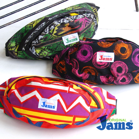 A colorful pop surf pattern body bag born in Hawaii. Unisex bum-bag / slant credit / shoulder bag / surf line Hawaii /Surf Line Hawaii/ man and woman combined use ◆ Jams (jam) WAIST BAG [J-WAIST-BAG-31] excellent at presence to be usable in the accent co