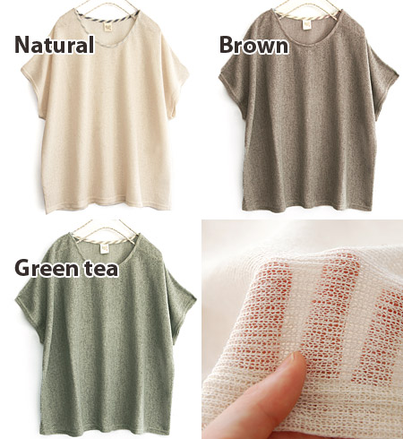 Hemp ライトニット sweater with a thinner yarn loosely woven. Enjoy the layered look in sheer mesh of ♪ Dolman sleeve design that will broaden and rectangular. Calm color development ◎ / sheer knit and sumant / spring knitwear / spring knitwear ◆ パストライトニットドルマンプ