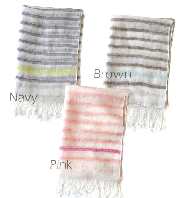 & natural refined the horizontal stripe line which I do not insist on too much. The light stall ultraviolet rays measures thin lady's pretty fashion fashion mail order Rakuten ◆ point color border linen gauze stall which are ボリューミー of tension and the