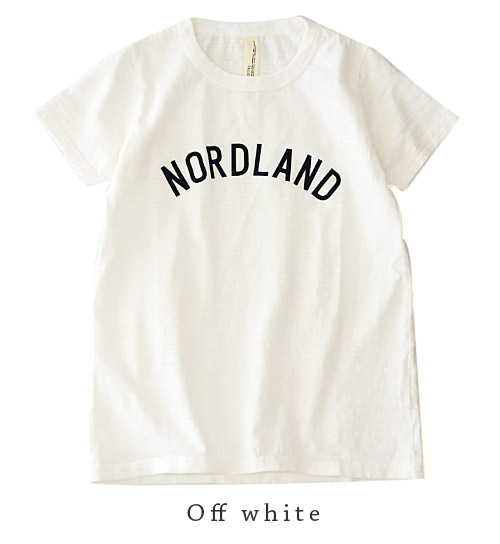 Tired of not a simple logo with wash treatment like thickness slab fabric. Continued wear longer, regardless of season and trendy wardrobe items and short sleeves sewn ◆ Zootie ( ズーティー ) :NORDLAND T shirt [ladies]