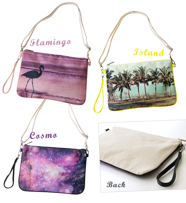 It is a flamingo in resort scenery in the space…A real transcription print is a bag for a unique shoulder. Different fabrics change design of the main body canvas X handle enamel! Take off a shoulder string; and as a clutch bag activity ♪ /fs3gm ◆ photop