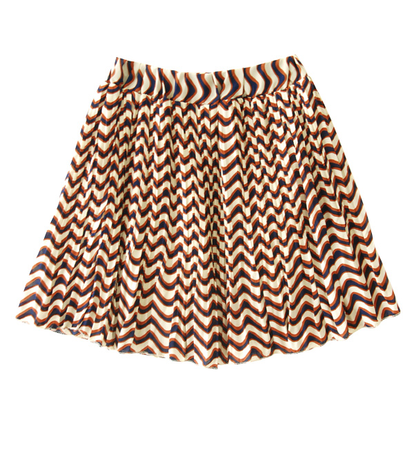 Border pattern tailored to busy in pleated mini-skirts. Its fun Chin! Cute flare in chiffon pleated skirt ◆ Zootie ( ズーティー ): brim マルチボーダープリーツミニ skirt