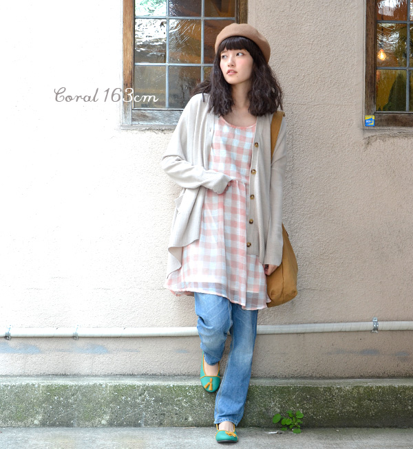 Plaid × タンクワンピ of the feminine silhouette with gathered waist high position. The airy fabric • / タンクトップワン piece ◆ ギンガムチェックシフォンウエストギャザーノースリーブワン piece