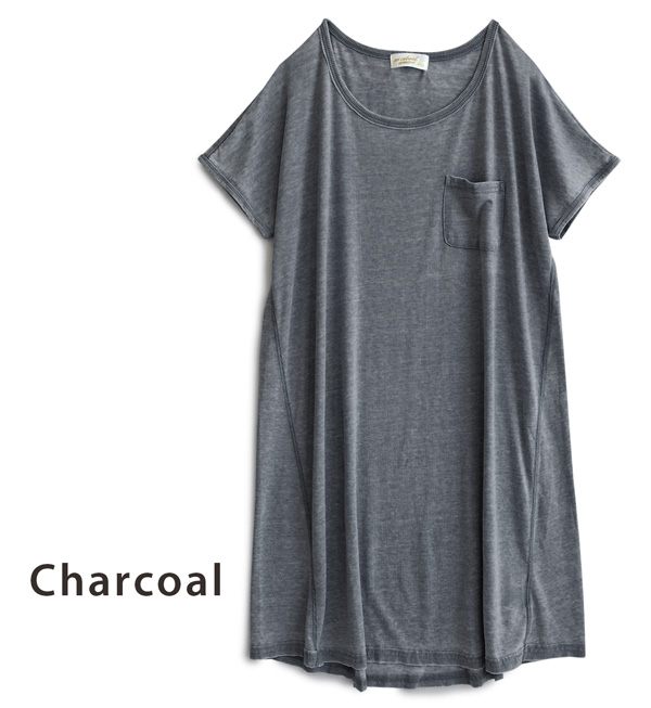 Feeling distressed distinctive color expressed the swings loose simple T flannel of the width. Slightly rounded cocoon silhouette girl • women ◆ w closet ( ダブルクローゼット ): Opal tenjiku Dolman T shirt dress