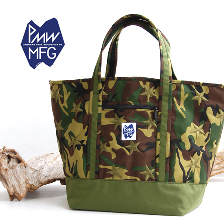 Camouflage pattern oversized tote with large star embroidery. And commuters of course active in travel and outdoor scenes / unisex / bag / ミルタリー / with ◆ PETERS MOUNTAIN WORKS ( ピーターズマウンテンワークス ) WTP HERO [9003 HR]
