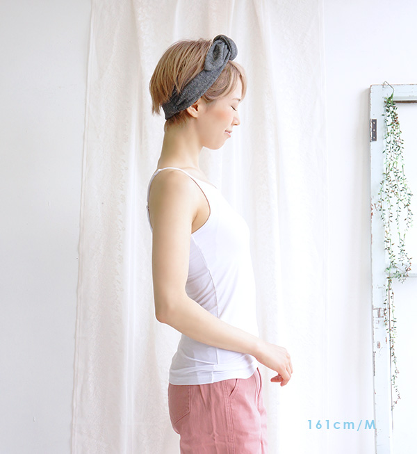I take my ease, and bra top camisole M/L is reliable! ◆ zootie (zoo tea) with the inner Lady's tops underwear sleeveless monochrome in the summer inner feeling of cold deodorization fast-dry cup with cup: クールフィットココチインナーブラトップキャミソール