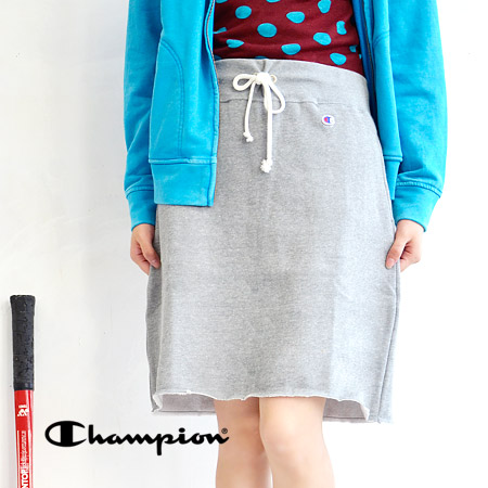 Knee-length skirt hem bleed rough was accented. Back brushed the warm and cozy, sweat fabrics use / mid-length / MIDI-length and knee-length / dates / half length and adjustment tied / casual ◆ CHAMPION (champion) SWEAT SKIRT CW-C212