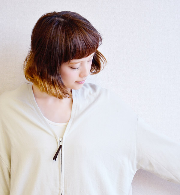 A sweat shirt parka style cardigan of the individual V neck such as the turtleneck such as the food. Different fabrics change design / haori /fs3gm ◆ back twill V neck light sweat shirt zip up cardigan of the cut-and-sew sense worn mini-fleece pile X thi