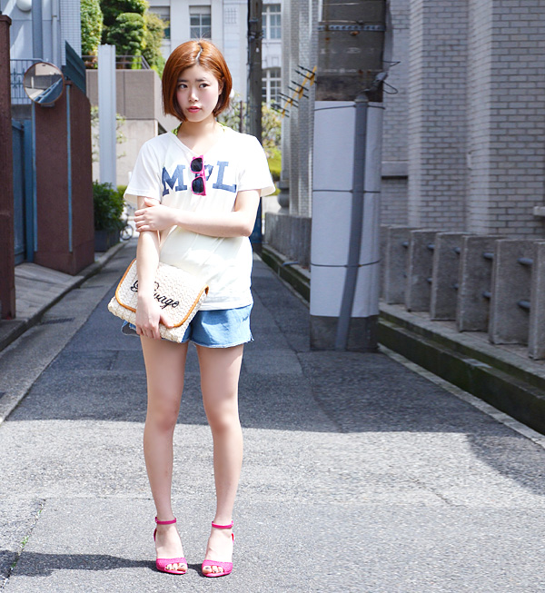 Logo print Tee short sleeves レディースカットソートップスレタードロゴ T casual clothes summer ◆ zootie (zoo tea) X w closet (double closet) which a logo item to be worried about is a limited item, and is usable in ♪ constant seller: MPL T-shirt