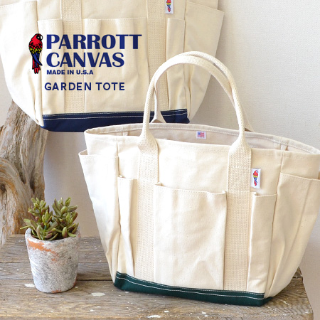0b5840664a1b An outside pocket is plentiful! Large tote bag Lady's men man and woman  combined use unisex garden Thoth NAT CANVAS CORDURA 14FW-08-14N ◆ PARROTT  ...