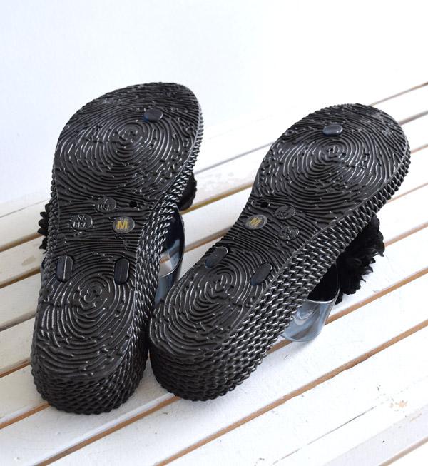 【特別!】サンダル / オンナノコの為の ビーチ サンダル! レディース 靴 サンダル トングサンダル ローヒール 大きいサイズ ぺたんこ 歩きやすい 痛くない ◆フラワーコサージュ ビーチサンダル