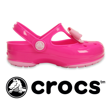 c9153caba23a42 ... for girls Sandals kids junior children s girl pumps peep toe Beach  Sandals Pink Ribbon spring and summer ◇ (crocs) crocs crocs carlie bow mary  jane PS