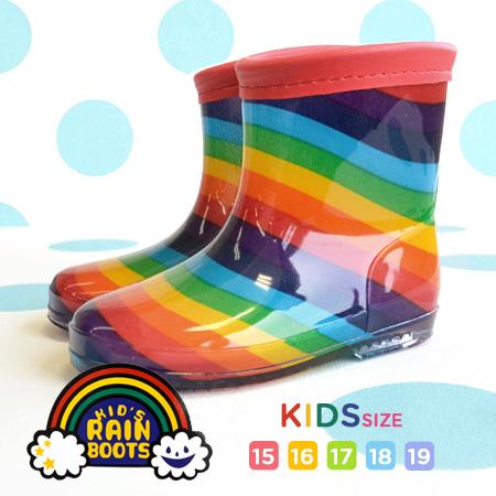 Peppy Rainbow Boots 15 16 17 18 19 5 Size Deployment Childrens Child Girl Boy Junior Girls Boys Rainwear Rain Shoes Colorful
