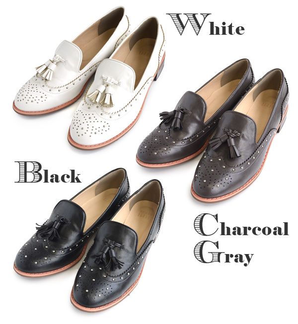 Wing tip designs with tassels loafers women's shoes shoes Opera shoes almond low heel with skin synthetic leather faux leather monochrome ◆ MIMIMEMETE (mimimemmett): PTI States tassel Oxford shoes